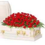 100 red rose casket spray
