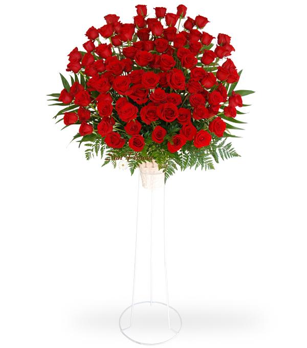 funeral flower standig spray