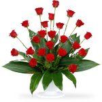 rose sympathy basket