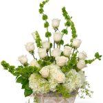 sympathy flower basket