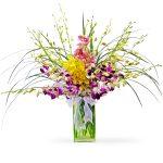 orchid sympathy bouquet
