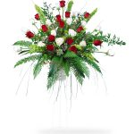 funeral flower standing spray