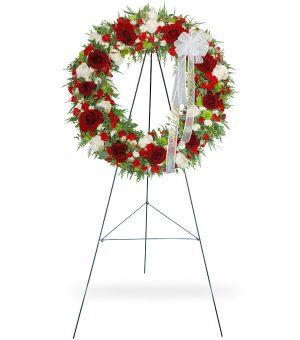 funeral flower wreath