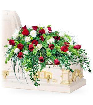 rose symphony casket flowers