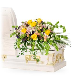 sentiments casket spray