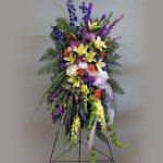 funeral flower easel spray