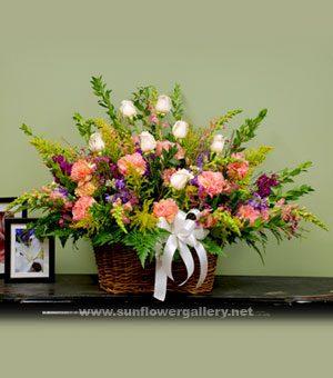 Funeral Flower Basket