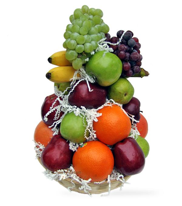 fruit gift basket for funeral sympathy in chicago